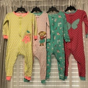 Carter's Cotton Footless Zip Sleeper Pajama Bundle